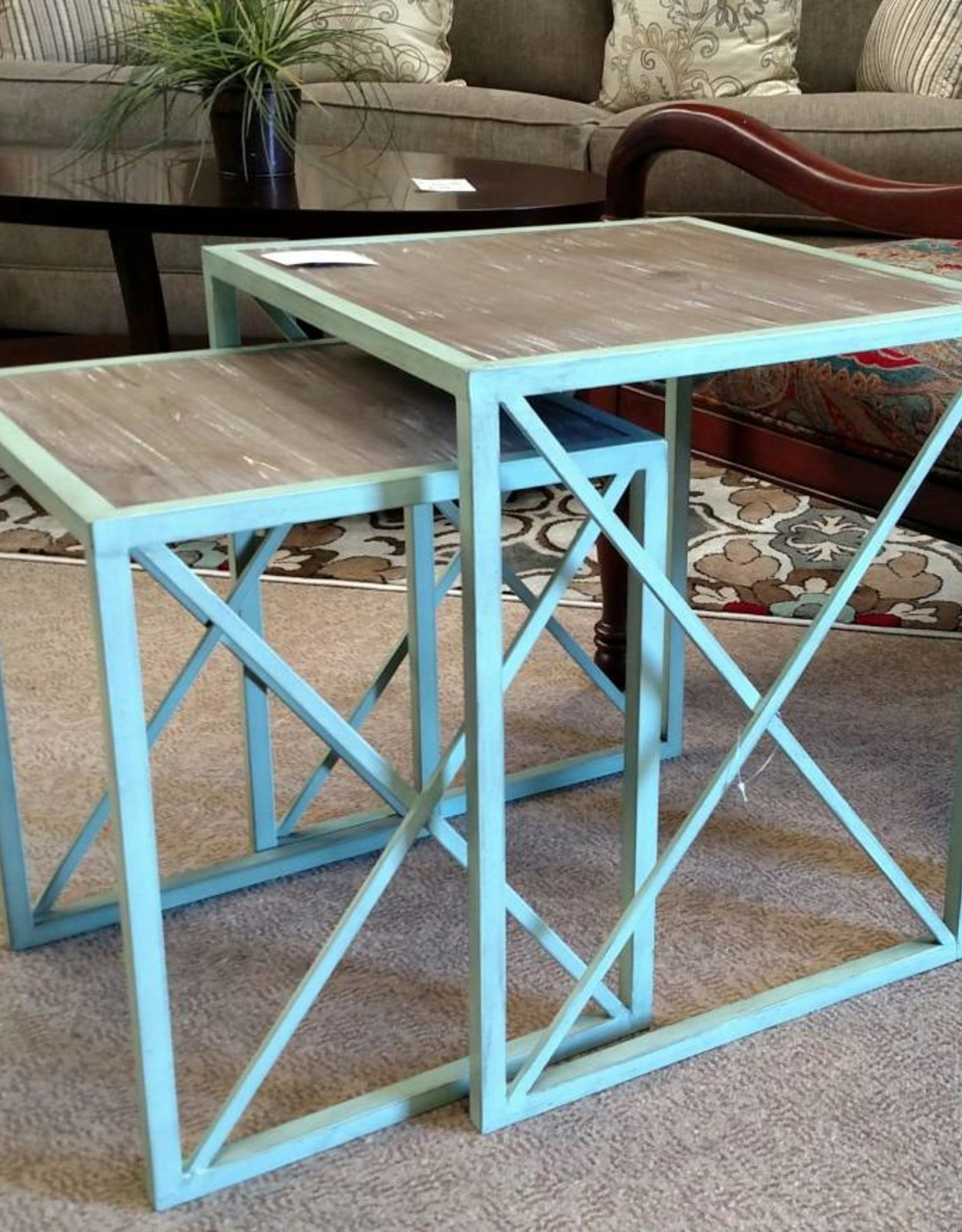 Aqua Nesting Tables