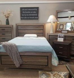 Crownmark Farrow Driftwood Bedroom - Queen Size