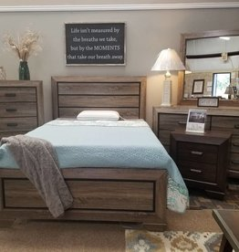 Crownmark Farrow Driftwood Bedroom - Twin Size