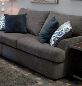 United Grandstand Flannel Loveseat - Gray