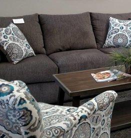 Lane Grandstand Flannel Sofa - Gray