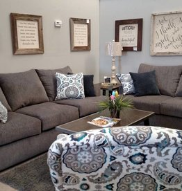 Lane Grandstand Flannel Sofa and Loveseat