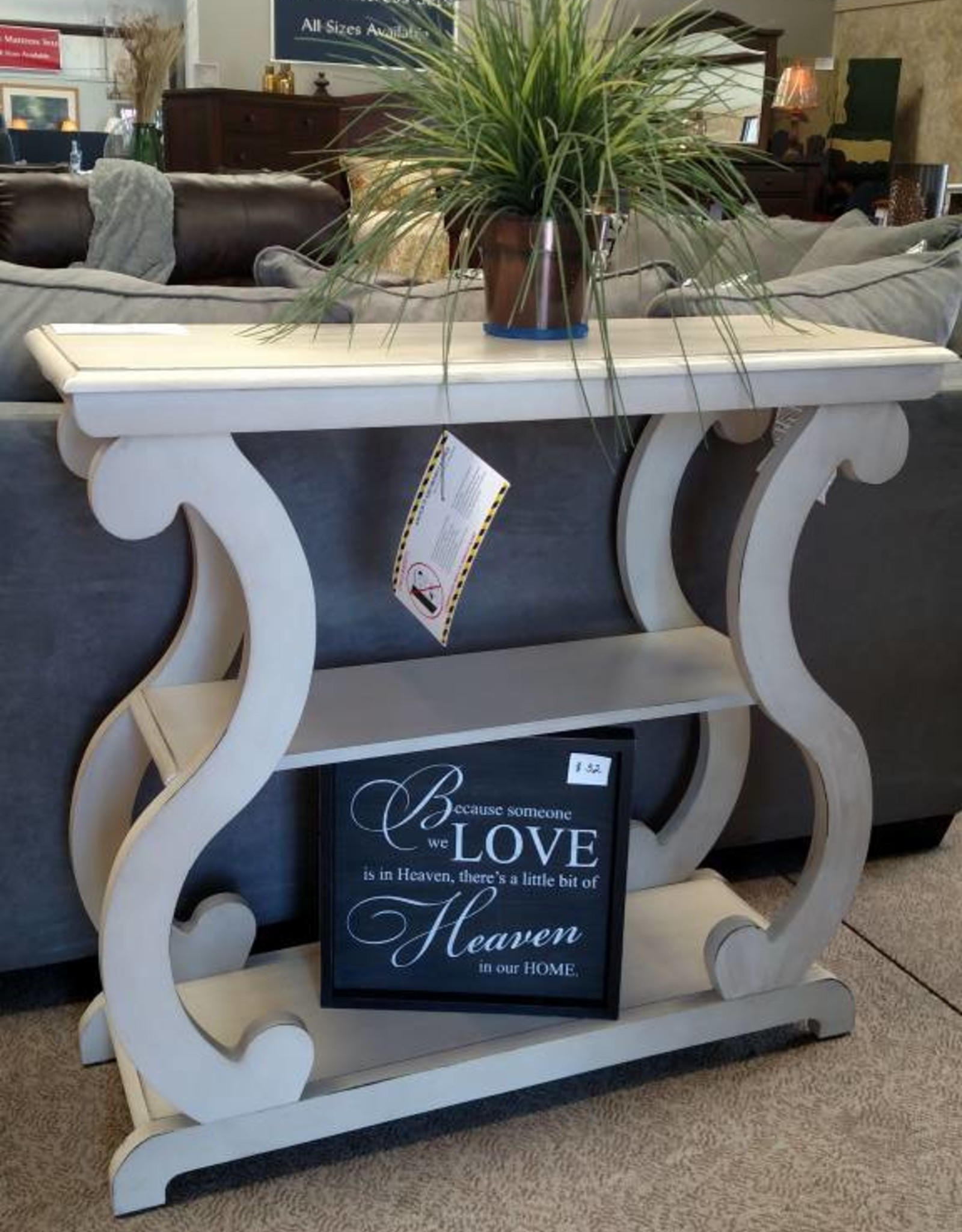 Crownmark Lucy Console Table - Ivory