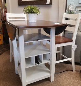 Bernards Ridgewood Table White/Cherry