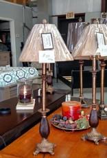 Crestview Nora Tall Bronze Buffet Lamp w/ Shade
