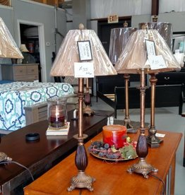 Crestview Nora Tall Bronze Buffet Lamp w/ Shade