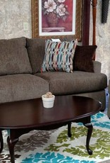United Grandstand Walnut Sofa and Chair 1/4