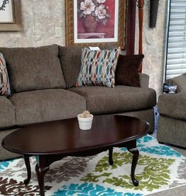 Lane Grandstand Walnut Sofa and Chair 1/4