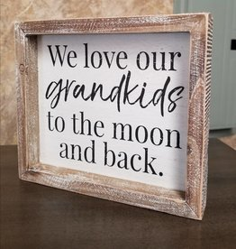 Adams & Co Love Grandkids Moon and Back 8x7
