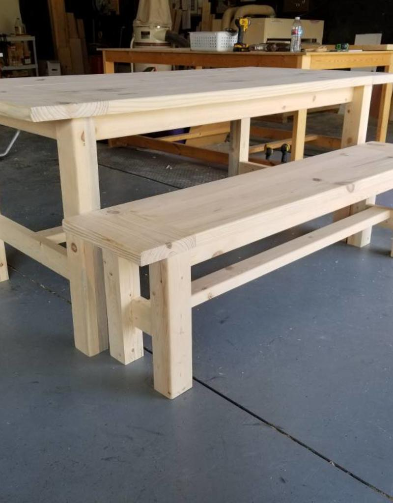Groovy Bargain Bunks Farmhouse Table Additional Bench Add On Unfinished Interior Design Ideas Skatsoteloinfo