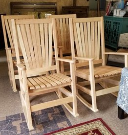 Family Woodworking Pair of Oak Rockers