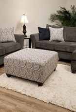 United Albany Pewter Chofa,  loveseat & cocktail ottoman