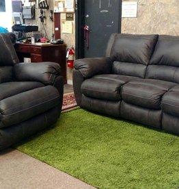 United Shiloh Granite Sofa and Power Rocker-Recliner