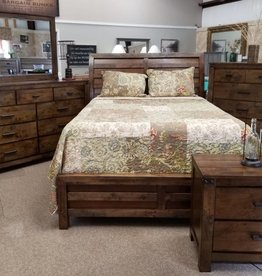Crownmark Curtis Sleigh Bed - King Size