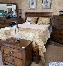 Crownmark Curtis Sleigh Bedroom Set - King Size