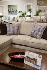 United Alamo Taupe Sofa w/ Chaise Chofa 4330