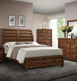 Crownmark Curtis Sleigh Bed - Queen Size