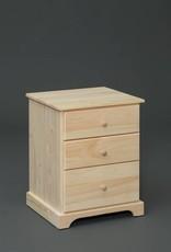 Fighting Creek Pine 3-Drawer Nightstand -  w/ Stock finish