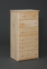Fighting Creek Pine 6-Drawer Chest  - Unfinished
