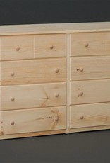 Fighting Creek Pine 8-Drawer Dresser w/ Euro Glides - Unfinished