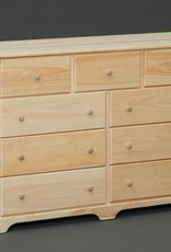 Fighting Creek Pine 9-Drawer Dresser - Unfinished