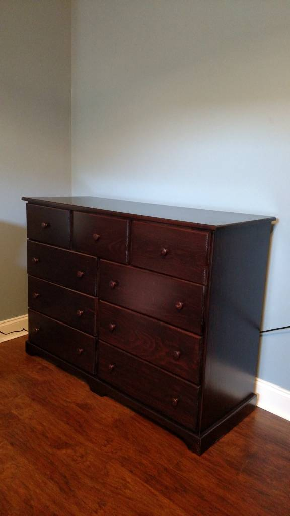 Pine 9 Drawer Dresser W Stock Finish Bargain Box And