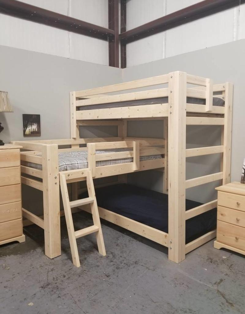 Triple Bunk T Shape Style Bargain Box And Bunks