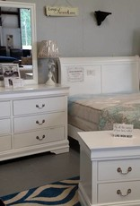 Crownmark Louis Philipe Sleigh Dresser - White