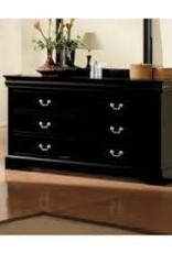 Crownmark Louis Philipe Sleigh Dresser - Black