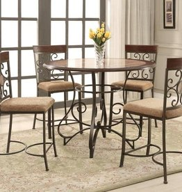 Crownmark Sarah Dining Table with 4 Chairs counter height