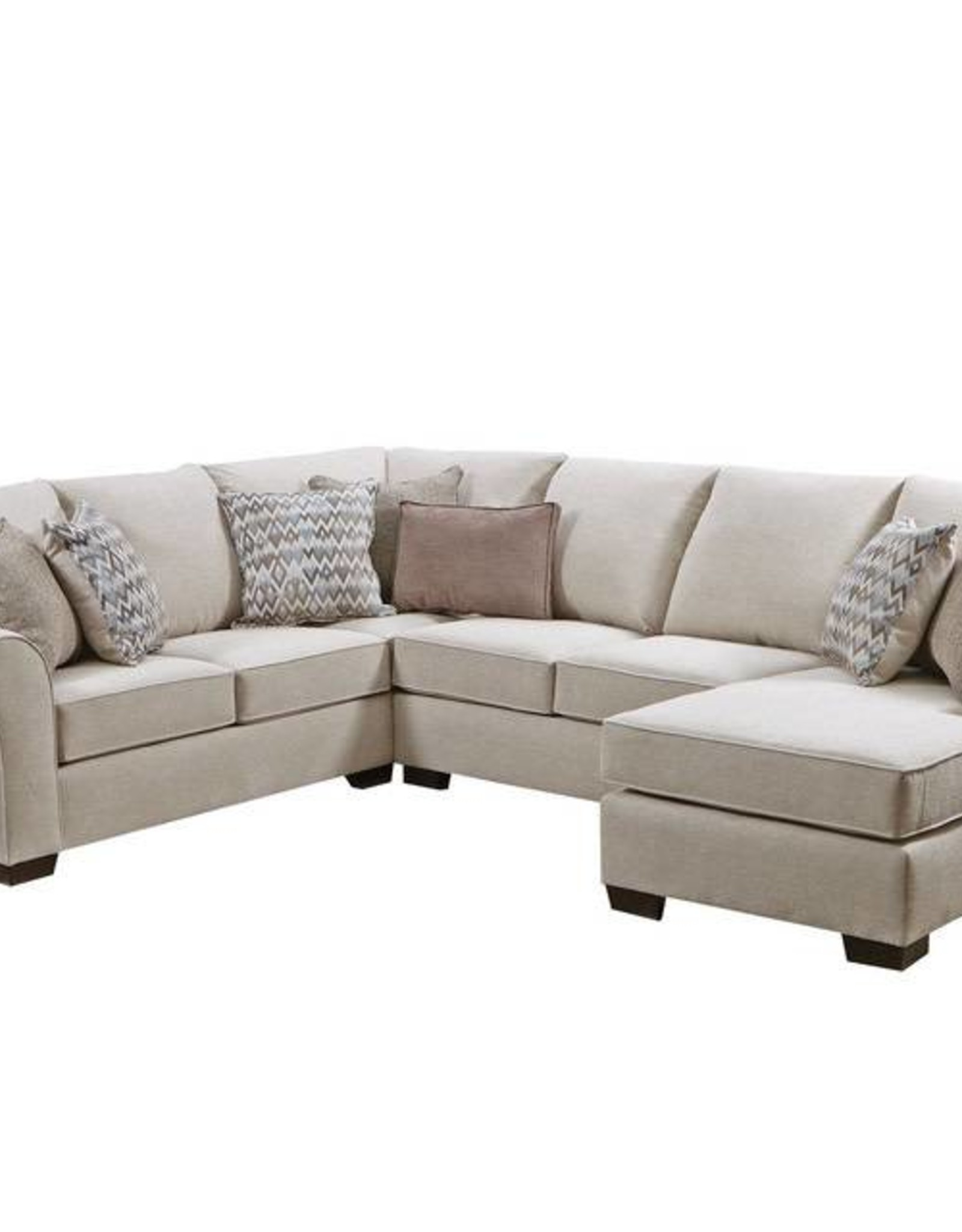 United Boston Linen Sectional w/ Chaise