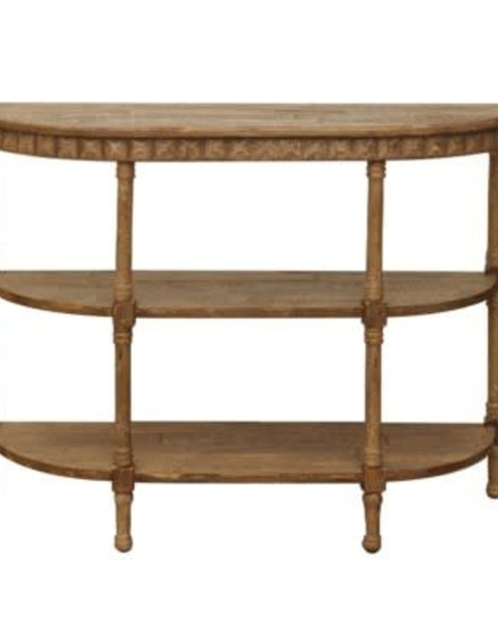 Crestview Cheyenne Semi-Round Sofa Console Table (Foyer, Hallway)