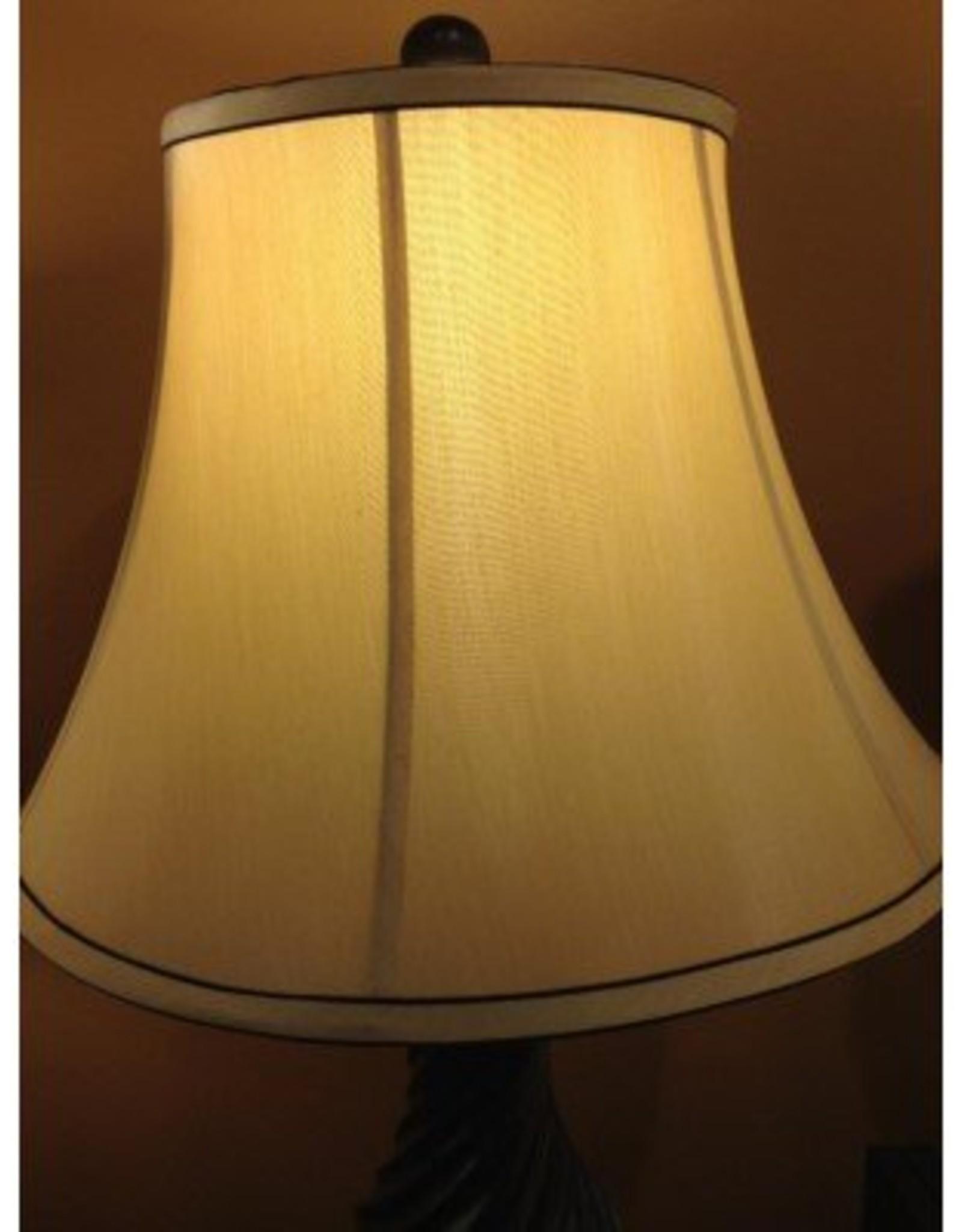 Crestview Edgemont Table Lamp -  BLACK SWIRL W/BLACK STRIPE SHADE