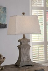 """Crestview Resin Brown Rectangle Shade 31"""" Table Lamp"""