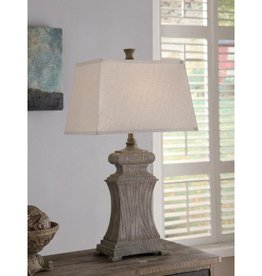 "Crestview Resin Brown Rectangle Shade 31"" Table Lamp"