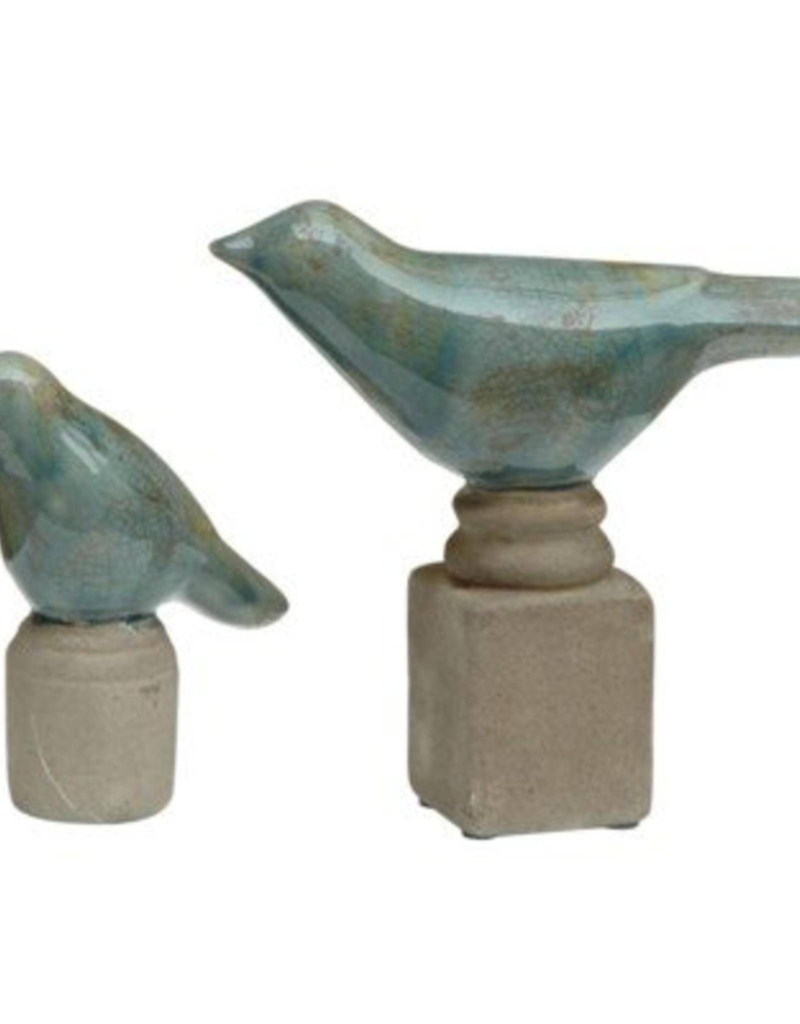 Crestview Set of 2 Ceramic Bird Figurines