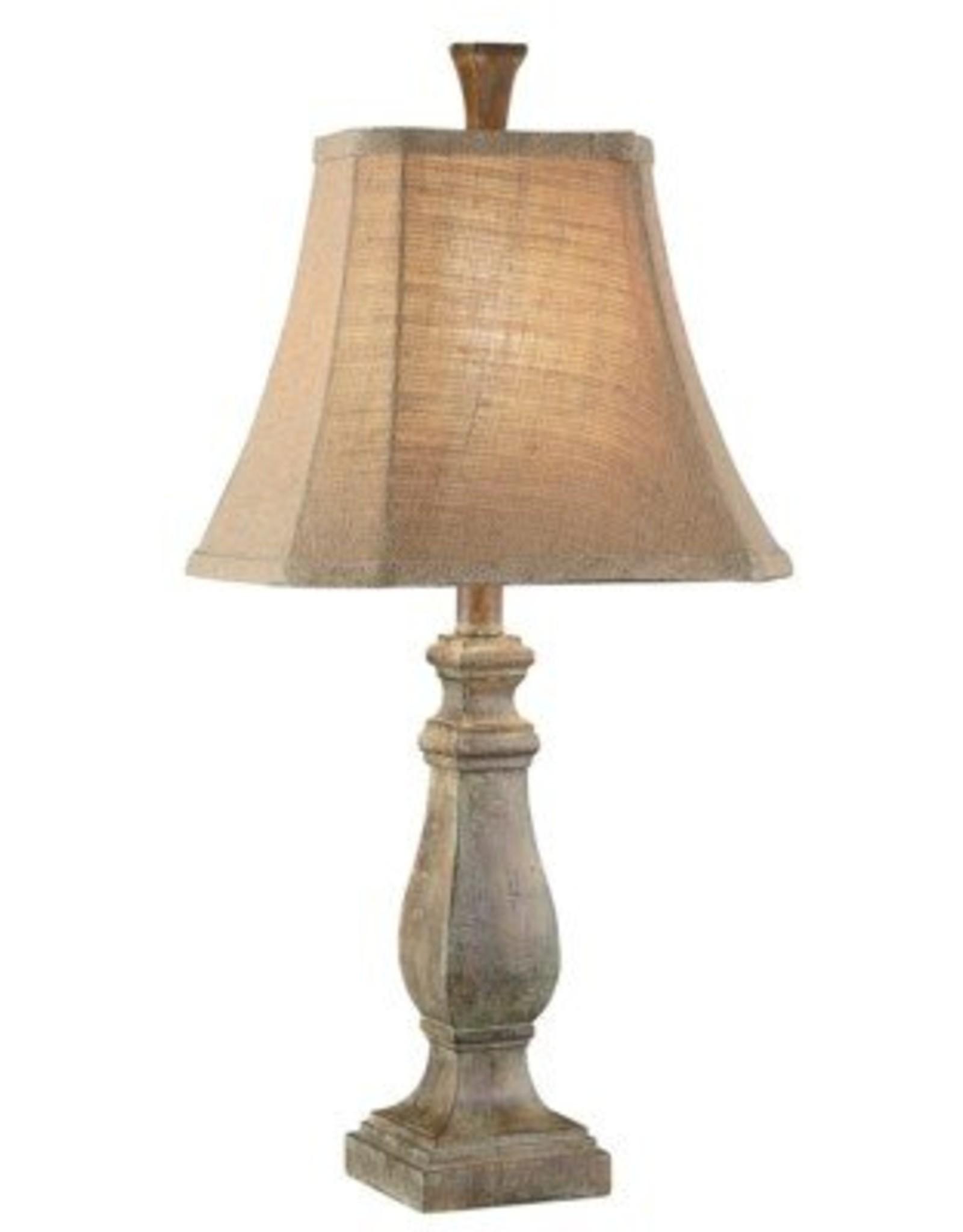 Crestview Resin Table Lamp w/ Burlap Shade