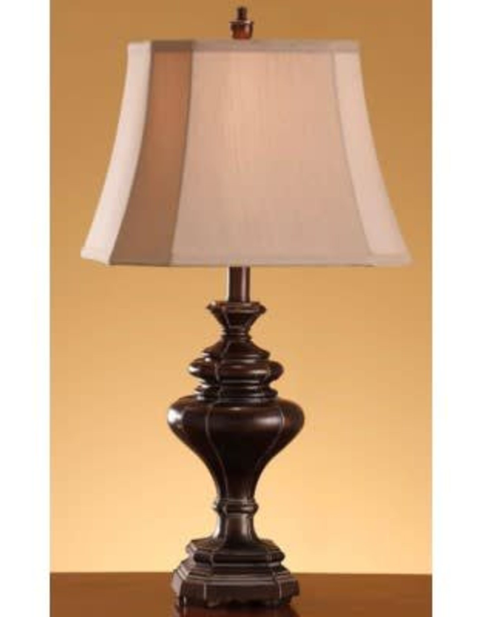 Crestview Ridgeway Oil-Bronze Table Lamp w/ Shade