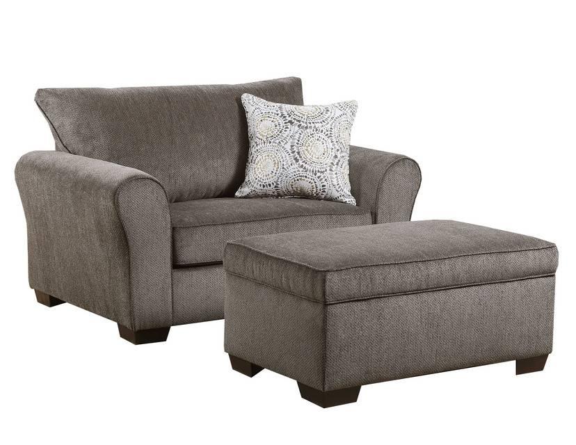 Harlow Ash Chair 1 2 And Ottoman Bargain Box And Bunks