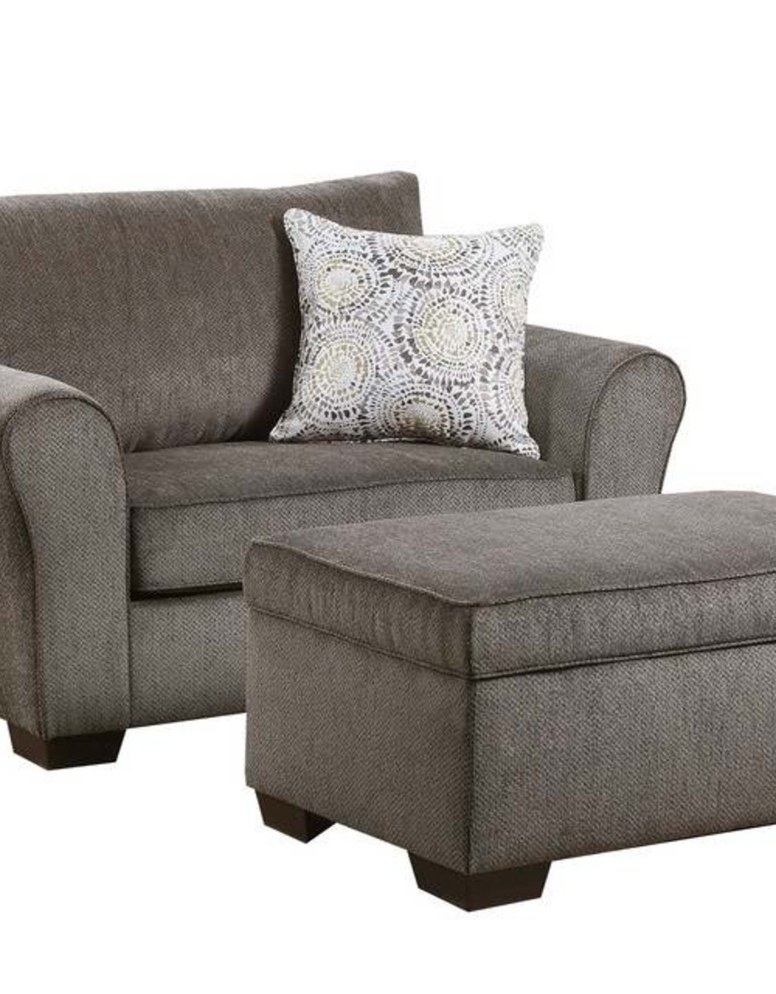 United Harlow Ash Chair 1/2 and Ottoman
