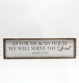 Adams & Co As for Me and My House Sign
