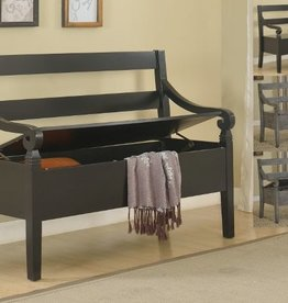 Crownmark Kennedy Storage Bench: Black