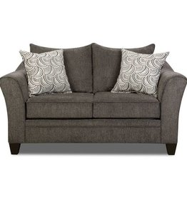 United Albany Pewter Loveseat Basta Silver