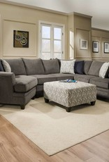 United Albany Pewter Sectional w/ Wedge Basta Silver
