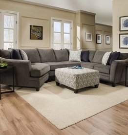 Lane Albany Pewter Sectional w/ Wedge Basta Silver