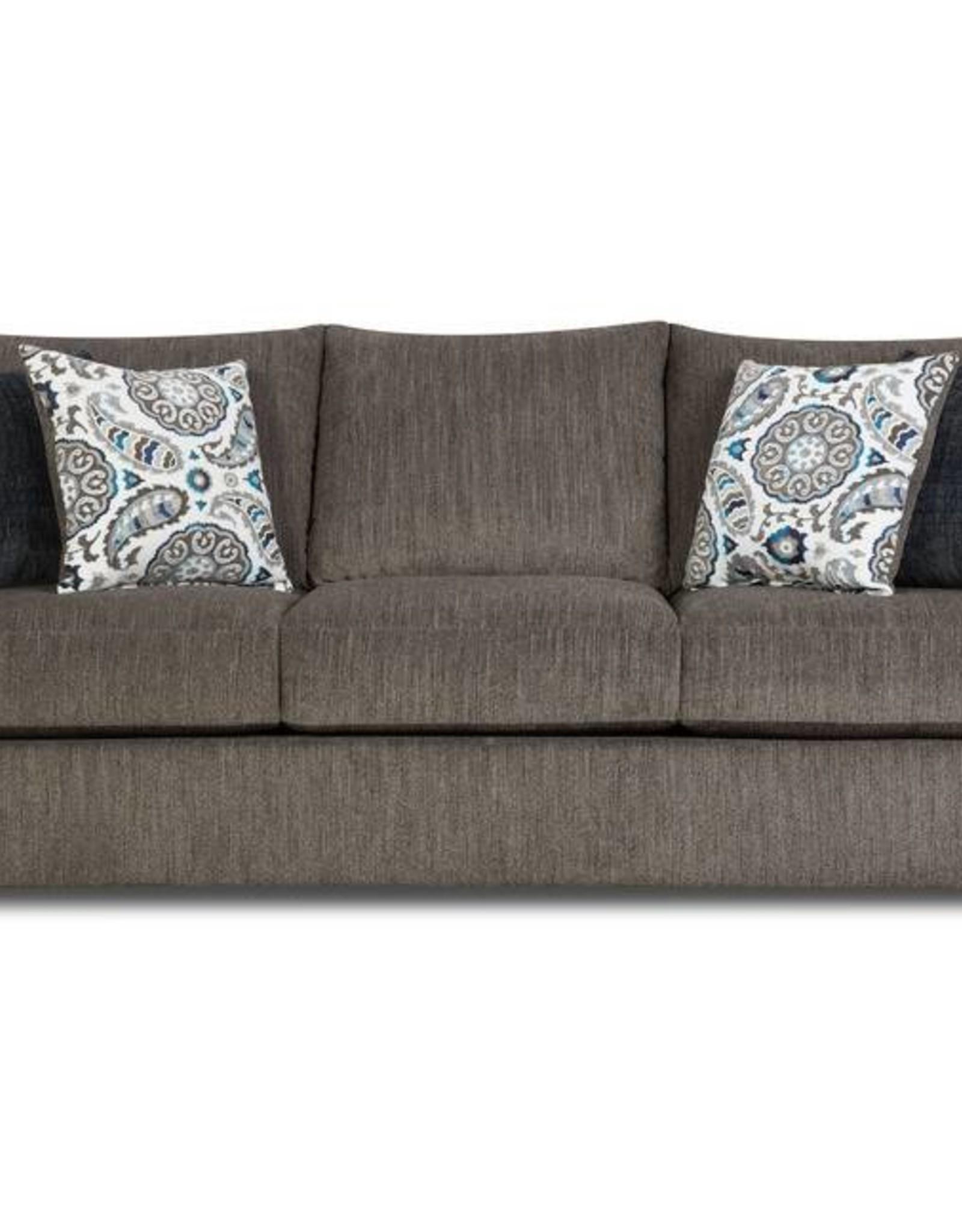 United Grandstand Flannel Sofa - Gray
