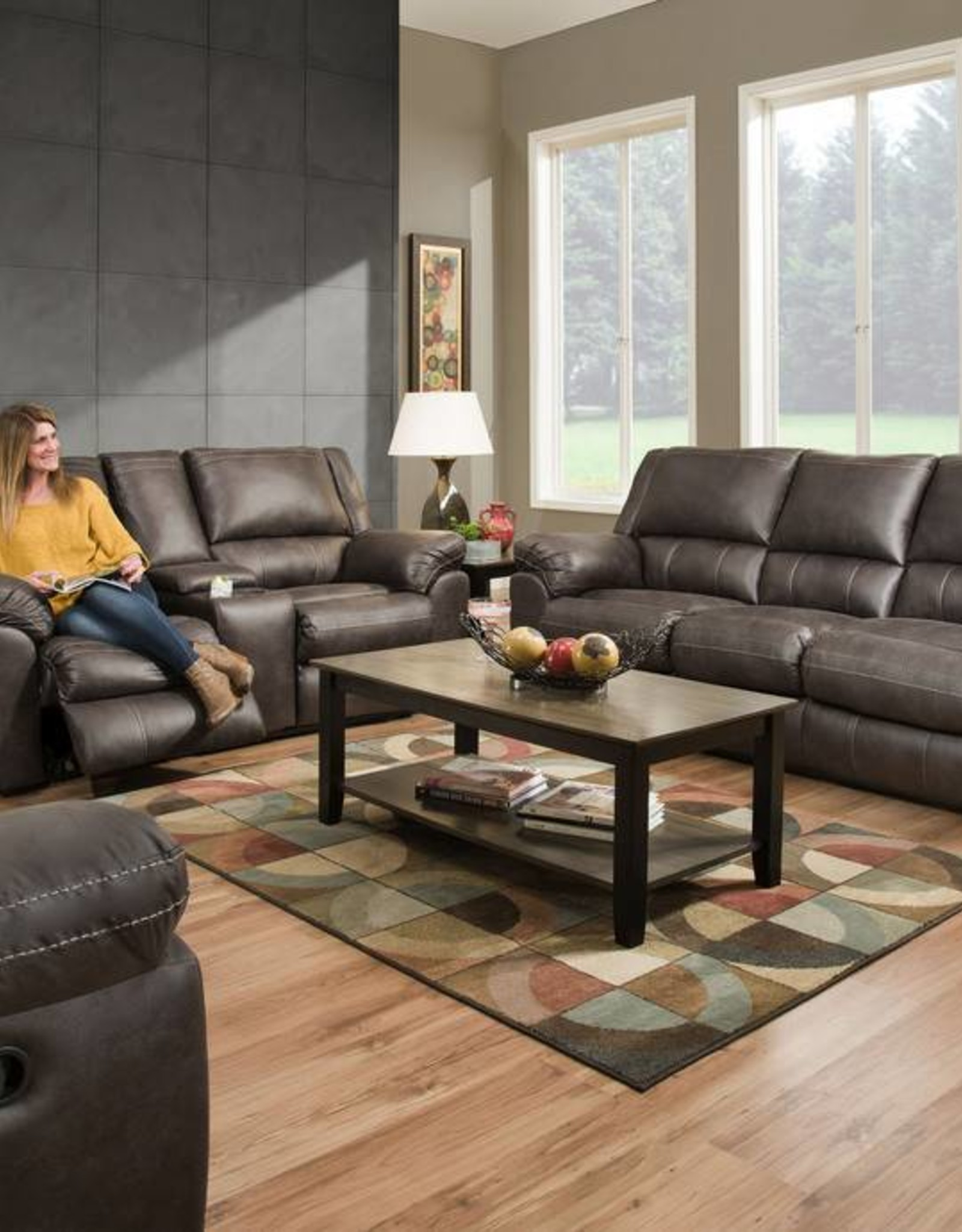 United Shiloh Granite Sofa, Loveseat and Power Cuddler