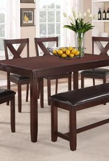 Magnificent Crownmark Clara Dining Table Set W 4 Chairs Espresso Forskolin Free Trial Chair Design Images Forskolin Free Trialorg