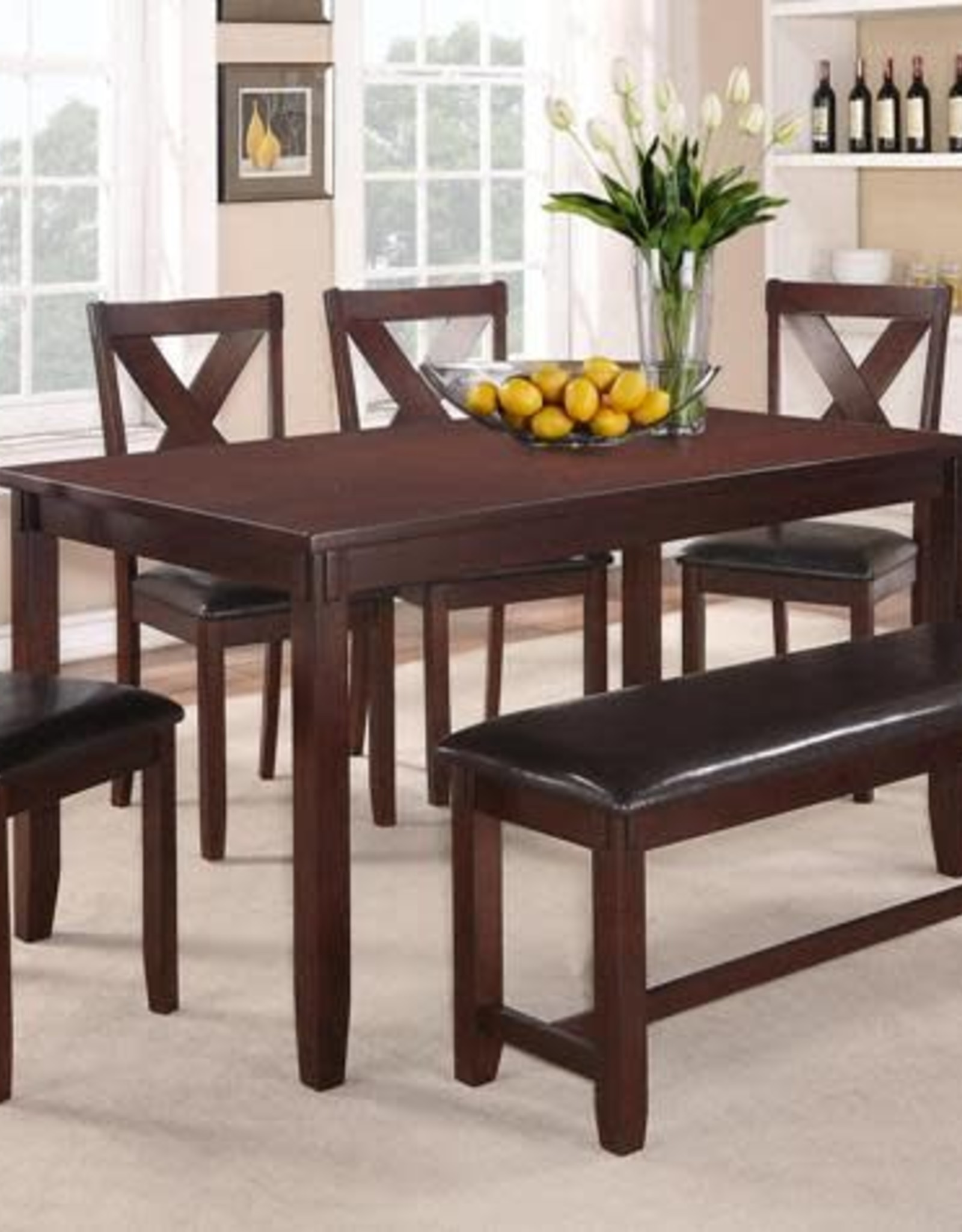Clara Dining Table Set W 4 Chairs Espresso Bargain Box And Bunks