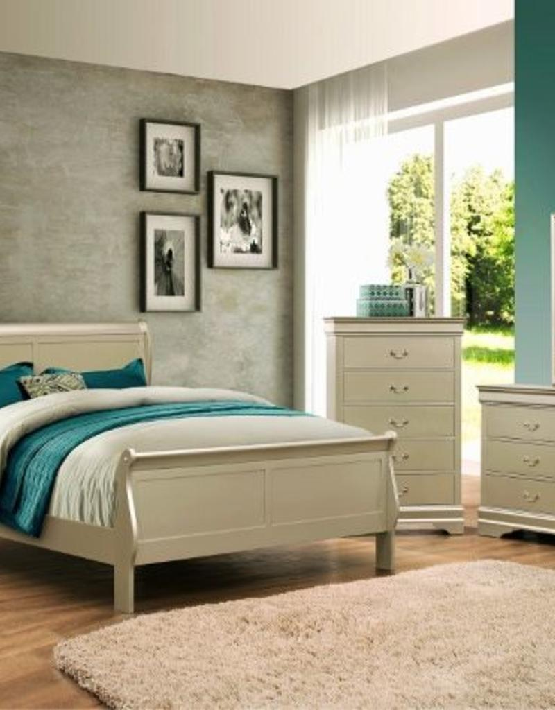 Sleigh bedroom queen size champagne